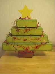 wooden craft christmas trees christmas lights decoration