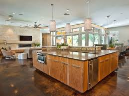 large kitchen floor plans best stunning open floor plan kitchen and family ro 25089