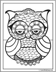 coloring colouring peace owl hippie coloring