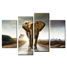 how to hang canvas art without frame 4 panel modern art oil paintings big elephant walk canvas