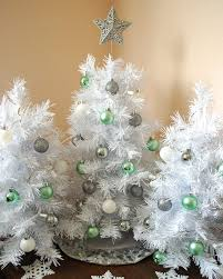 white tree skirts artificial trees with