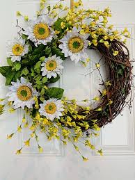 spring wreaths for front door best 25 sunflower wreaths ideas on pinterest spring door