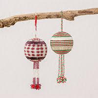 beaded ornaments novica