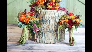 Fall Floral Decorations - rustic fall floral centerpiece with roses youtube