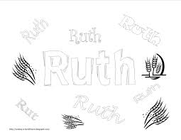 book of ruth free coloring pages for kids sunday