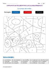 groupe des verbes ce2 coloriage magique pass education