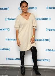 jada pinkett smith wears boots to interview on siriusxm show