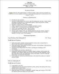 resume examples for warehouse warehousing resume objectives