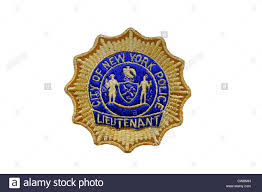 nypd lieutenant badge city of new york police department stock