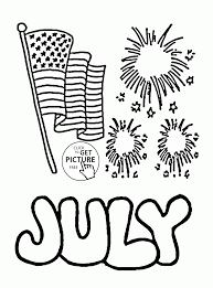 happy 4th of july coloring page for kids coloring pages