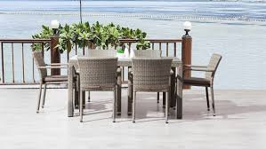 6 seater patio furniture set coogee 6 seater outdoor dining set lavita furniture