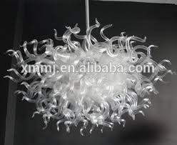 Murano Glass Chandelier 100 Hand Blown Clear White Murano Art Home Decor Glass Chandelier