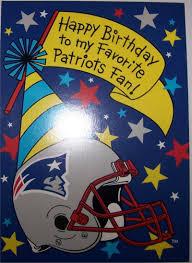 Six Flags Birthday New England Patriots Happy Birthday Card Greeting Card New