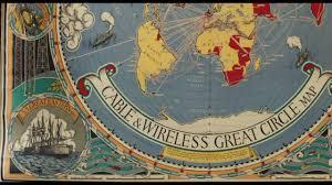 World Map Flat by Cable U0026 Wireless Map Macdonald Gill U0027s U0027great Circle U0027 World Map