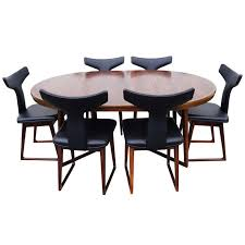 Dining Table And Six Chairs Rosewood Dining Table And Six Chairs By Arne Vodder For Sale At