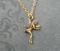 fairy jewelry necklace images Fairy necklace very small fairy jewelry gold fairy pendant jpg