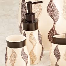 shimmer ribbon design bath accessories