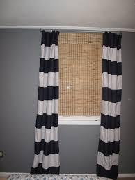 Black White Stripe Curtain White Wooden Shutter Window Using Black White Vertical Stripe