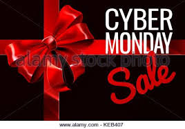 ribbon sale advertising background with bow ribbon for black friday sales