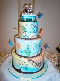 spiritmama art and soul vw van sock monkey wedding cake