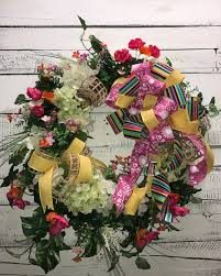 Artificial Flowers Home Decor by Beautiful Spring Wreath Summer Wreath Front Door Wreath Silk