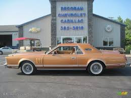 peach car 1977 lincoln mark v in nectarine metallic orange candy