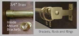 arts u0026 crafts period textiles brass curtain hardware