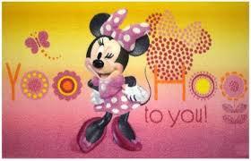Chambre Enfant Minnie - tapis disney minnie onlinemattenshop be