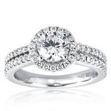 diamond halo rings images Mazal diamond floating halo diamond engagement ring with 2 row band jpg