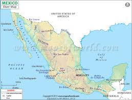 america map with rivers rivers in mexico map