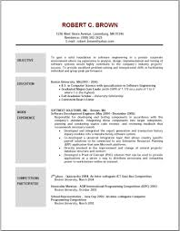www resume format free download crafty design sample of resume objective 14 examples of resumes download sample of resume objective