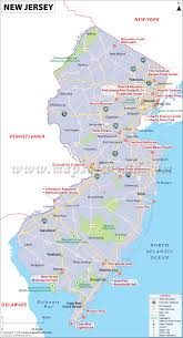 Pennsylvania On Map by New Jersey Map Map Of New Jersey Nj Usa