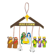 nativity mobile craft kit orientaltrading com created