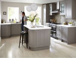 grey kitchen cabinets b q the refined woodwork of our carlsbrooke taupe kitchen helps