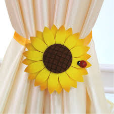 Sunflower Yellow Curtains by Amazon Com 4 Pcs Magnetic Curtain Tiebacks Strong Holdbacks