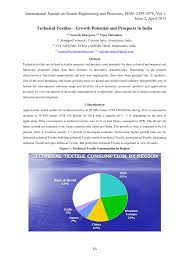technical textiles u2013 growth potential and prospects in india pdf
