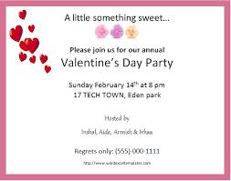 ms word valentine u0027s day party invitation cards word u0026 excel
