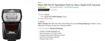 d7200 black friday amazon deal of the day u2013 nikon sb 700 af speedlight flash for 230 at