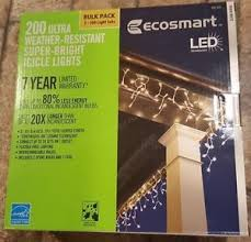 ecosmart 200 led icicle lights ecosmart led 200 pro grade weather resistant warmwhite superbright