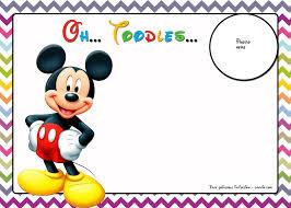 mickey mouse birthday invitations free mickey mouse birthday invitations template chevron edition