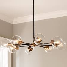 Dining Lighting Urban Globe Radial Chandelier 8 Light Mid Century Modern