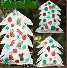 serenity now diy drop cloth ornaments craft