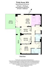 harrods floor plan trinity house kensington high street london w14 3 bedroom flat