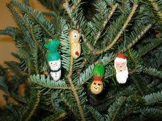 some peanut shell ornaments arts and crafts for