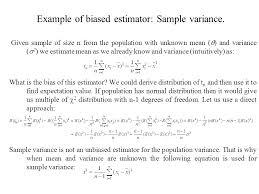 sample variance 13 mean and variance sampling distributions