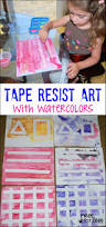 tape resist art with watercolors mess for less
