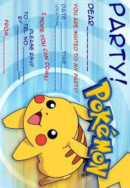 birthday invites elegant pokemon birthday invitations design