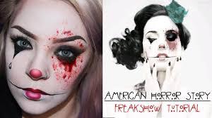 halloween american horror story freak show makeup tutorial