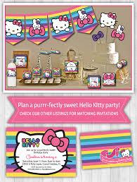 printable hello kitty birthday party ideas hello kitty party decor pack rainbow hello kitty parties