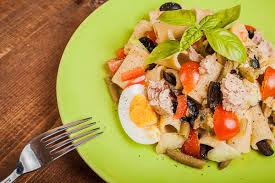 pasta salad with tuna tuna eggs more pasta salad